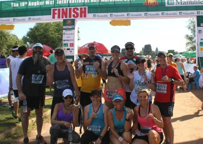 Angkor Wat Half Marathon finishers 2014