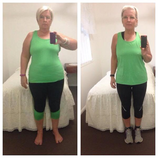 Gail before and after starting with Perfect Fit