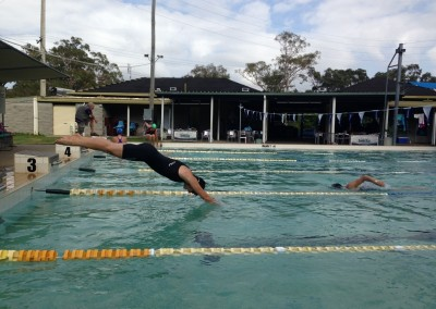 Tracey takes a dive at Swim-Cross