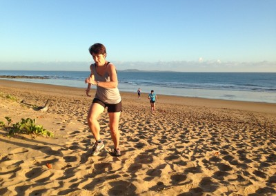 Soft sand runs at sunrise group training.
