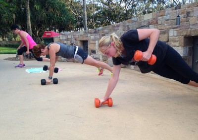 Christin complete prone dumbbell rows.