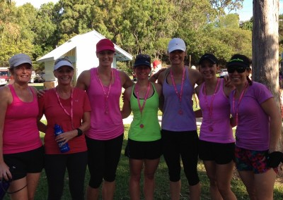Mother's Day Classic Tannum Sands, 2014. Fiona, Leonie, Bec, Robin, Jessica, Haley and Cherie.
