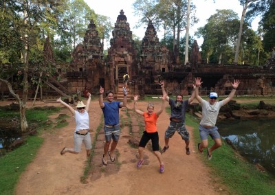 Excited to be at Banteay Srei.