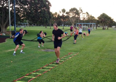 Great variety in a typical cross-training circuit.